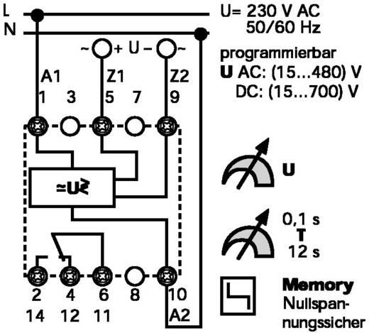 Univerzális AC/DC feszültségfigyelő relé, programozható, Finder 71.41.8.230.1021