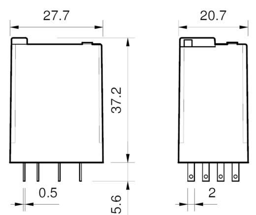 Miniatűr relé 110 V/AC 4 váltó 7 A 250 V/AC 7 A/250 V/AC, Finder 55.34.8.110.0040