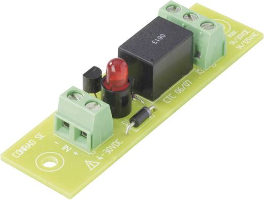 Relépanel REL-PCB4 relével 24 V/DC tekerccsel Conrad REL-PCB4 3 24 V/DC 1 váltó 50 W/110 VA