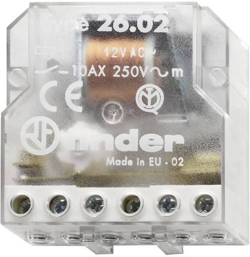 Impulzuskapcsoló, léptető kapcsoló, 12 V/AC 2 záró, 10 A 400 VAC/220 VDC 2500 VA, Finder 26.02.8.012.0000