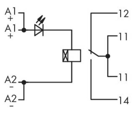 Időrelé modul 1 váltó 250 V, WAGO 286-600