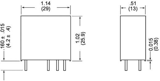 Miniatűr teljesítményrelé Zettler Electronics AZ733-2C-12DE 12 V/DC 2 váltó, 10 A, 150 V/DC/380 V/AC, 2500 VA/300 W