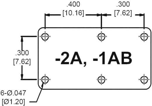 Szubminiatűr teljesítményrelé 12 V/DC 2 záró 5 A 150 V/DC/380 V/AC 1250 VA/150 W, Zettler ElectronicsAZ881-2A-12DEA