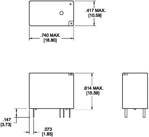 Zettler Electronics szubminiatűr teljesítményrelé, 6V/DC, 1 ák. 10A, AZ767-1A-6DE