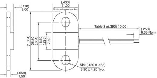 Hall szenzor műanyag házban, 3.8 - 24 V, Hamlin 55100-3H-02-A