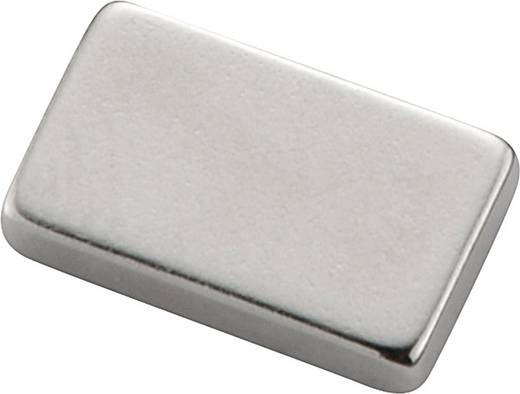 Neodímium mágnes 1,19 T, 25 x 6 x 2 mm, anyag: N 38 SH