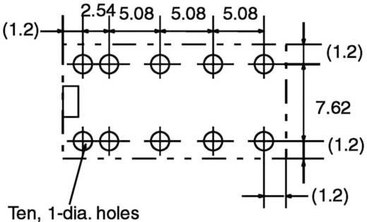 Jelzőrelé, bistabil, 12 V/DC 2 váltó (30 V/DC) 2 A/ (125 V/AC) 0,5 A Omron G6AK-274P-ST-US 12 VDC
