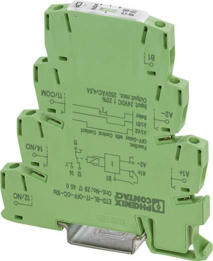 Phoenix Contact DIN sínes időkapcsolórelé, 1 áramkör, 24V/DC, ETD-BL-1T-OFF-CC-300MIN