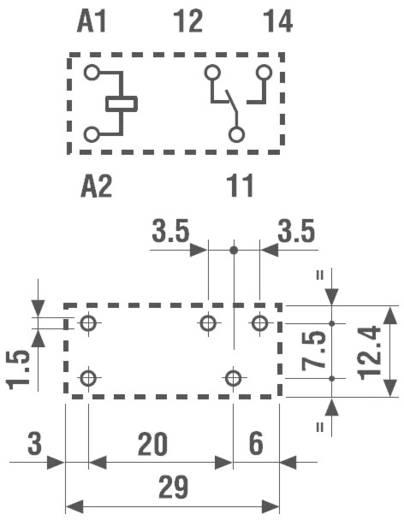 Nyák teljesítményrelé, 1W 12VDC 12A 40.31.7.012.1020