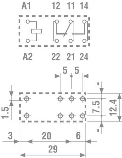 Nyák teljesítményrelé, 1W 12VDC 16A 40.61.7.012.1020