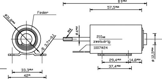 Hengeres emelő mágnes 24 V/DC 0,2/45 N, ZMF-3258d.002-24VDC,100%