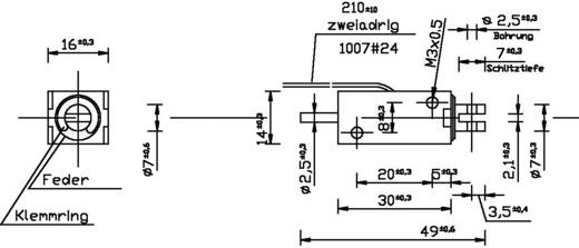 Emelőmágnes M3, 24 V/DC, 0,1/2,5 N, HMF-1614d.002-24VDC,100%