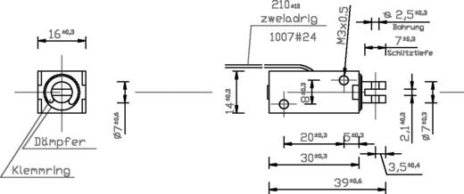 Emelőmágnes M3, 12 V/DC, 0,1/5,8 N, HMF-1614z.002-12VDC,100%