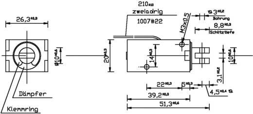 Emelőmágnes M3, 12 V/DC, 0,8/10 N, HMF-2620-39z.002-12VDC,100%