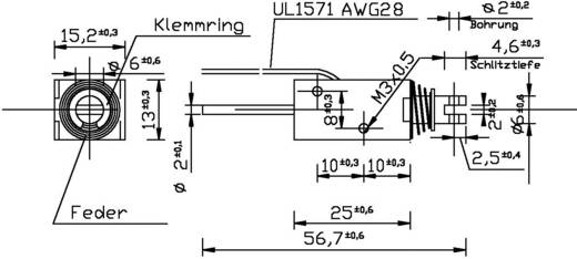 Patkómágnes M3, 12 V/DC, 0,1/8 N, HMA-1513d002-12VDC,100%