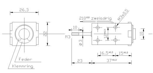 Patkómágnes M3, 12 V/DC, 0,1/70 N, HMA-2622d.002-12VDC,100%