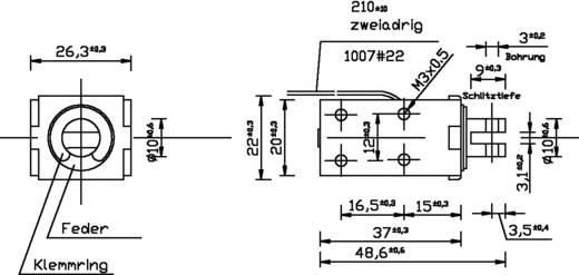 Patkómágnes M3, 12 V/DC, 0,1/90 N, HMA-2622z.001-12VDC,100%