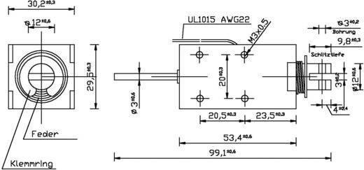 Patkómágnes M3, 12 V/DC, 0,2/40 N, HMA-3027d.001-12VDC,100%