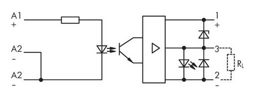 Optocsatoló modul 15 - 30 V/DC, WAGO 286-723