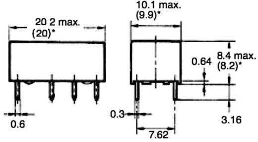 Jelzőrelé, monostabil, 24 V/DC 2 váltó (30 V/DC) 2 A/ (125 V/AC) 0,5 A Omron G6A-274P-ST-US 24 VDC
