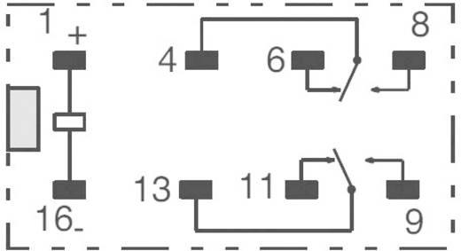Jelzőrelé, monostabil, 12 V/DC 2 váltó (30 V/DC) 2 A/ (125 V/AC) 0,5 A Omron G6A-274P-ST-US 12 VDC