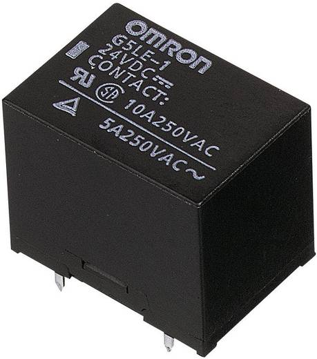 Kocka relé 12 V/DC 1 váltó, 30 V/DC 8 A, 250 V/AC 10 A, Omron G5LE-1-VD 12 VDC