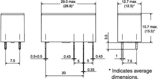 Teljesítményrelé, nagy bekapcsolási áram tűrő, 5 V/DC 1 váltó, 250 V/AC/24 V/DC/16 A, Omron G5RL-1-E-HR 5 VDC