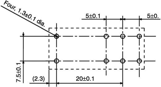 Teljesítményrelé, nagy bekapcsolási áram tűrő, 240 V/AC 1 váltó, 250 V/AC/24 V/DC/16 A, Omron G5RL-1-E 230 VAC/240 VAC