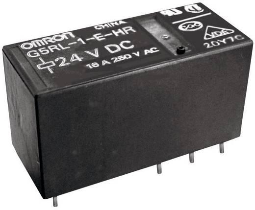 Teljesítményrelé, nagy bekapcsolási áram tűrő, 12 V/DC 1 váltó, 250 V/AC/24 V/DC/16 A, Omron G5RL-1-E-HR 12 VDC