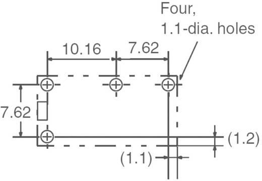 Kis teljesítményrelé 5 V/DC 1 záró, 5 A, 125 V/DC/380 V/AC, 1250 VA/150 W, Omron G6B-1114P-US 5 VDC
