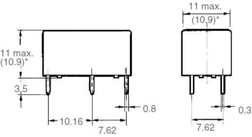 Kis teljesítményrelé 12 V/DC 1 záró/1 nyitó, 5 A, 125 V/DC/380 V/AC, 1250 VA/150 W, Omron G6B-2114P-US 12 VDC