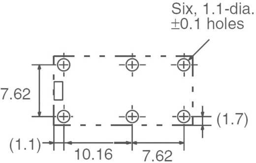 Kis teljesítményrelé 24 V/DC 2 záró, 5 A, 125 V/DC/380 V/AC, 1250 VA/150 W, Omron G6B-2214P-US 24 VDC