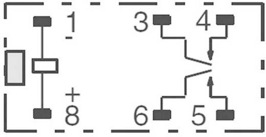 Kis teljesítményrelé 5 V/DC 2 záró, 5 A, 125 V/DC/380 V/AC, 1250 VA/150 W, Omron G6B-2214P-US 5 VDC