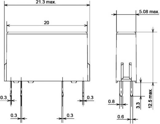 Rendkívül vékony teljesítmény relé 12 V/DC 1 záró, 5 A 30 V/DC/250 V/AC 1250 VA/150 W, Omron G6DS-1A-H 12 VDC