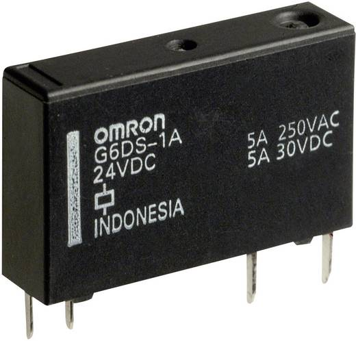 Rendkívül vékony teljesítmény relé 5 V/DC 1 záró, 5 A 30 V/DC/250 V/AC, 1250 VA/150 W, Omron G6DS-1A-H 5 VDC