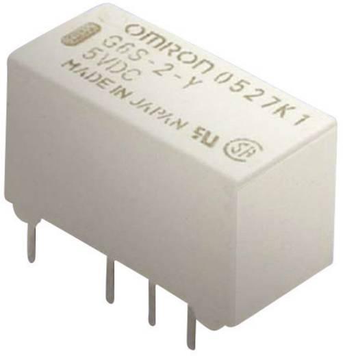 Rendkívül vékony jel relé 5 V/DC 2 váltó, 2 A 220 V/DC/250 V/AC, 62,5 VA/60 W, Omron G6S-2 5 VDC