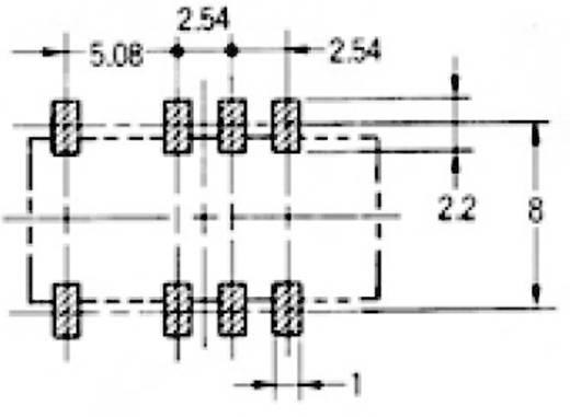Rendkívül vékony jel relé 5 V/DC 2 váltó, 2 A 220 V/DC/250 V/AC, 62,5 VA/60 W, Omron G6S-2F 5 VDC