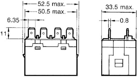 Nagy teljesítményű relé 12 V/DC 2 záró, 25 A 250 V/AC, 5500 VA, Omron G7L-2A-T 12 VDC