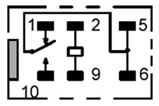 PCB jel relé 12 V/DC 1 váltó, 1 A, 60 V/DC/125 V/AC, 62,5 VA/30 W, Omron G5V-1 12DC