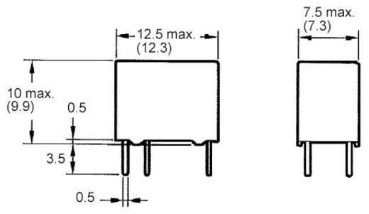 PCB jel relé 24 V/DC 1 váltó, 1 A, 60 V/DC/125 V/AC, 62,5 VA/30 W, Omron G5V-1 24DC