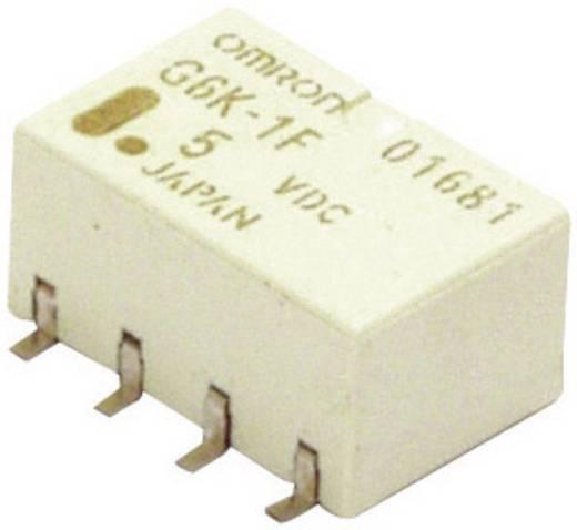 2 pólusú PCB jel relé, monostabil, 24 V/DC 2 váltó, 1 A 125 V DC/AC 62,5 VA/24 W, Omron G6K-2F-Y 24DC