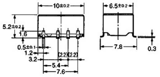 2 pólusú PCB jel relé, monostabil, 12 V/DC 2 váltó, 1 A 125 V DC/AC 62,5 VA/24 W, Omron G6K-2F-Y 12DC