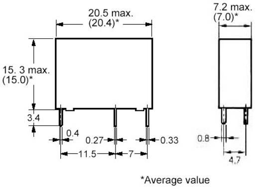 Miniatűr relé 12 V/DC1 záró, 5 A 30 V/DC/250 V/AC 1250 VA/90 W, Omron G5NB-1A-E 12DC