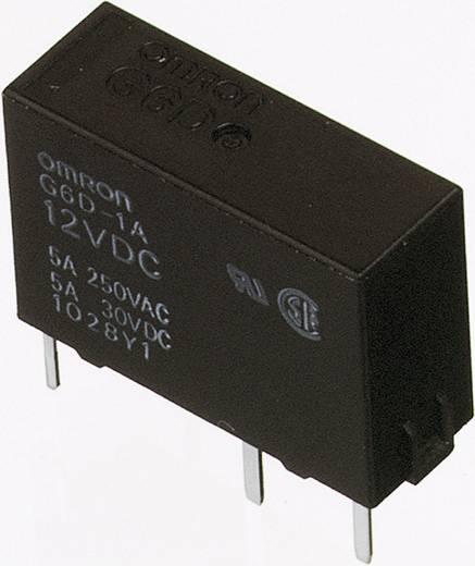 Omron 12V/DC teljesítményrelé, 1 záró, 5A/250V/AC, G6D-1A-ASI 12DC