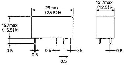 PCB teljesítmény relé 24 V/DC 2 váltó 8 A/250 V/AC, 300 V/DC/440 V/AC, 2000 VA/240 W, Omron G2RL-2 24V