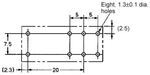 PCB teljesítmény relé 48 V/DC 1 váltó 16 A/250 V/AC, 300 V/DC/440 V/AC, 4000 VA/380 W, Omron G2RL-1-E 48V