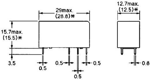 PCB teljesítmény relé 24 V/DC 1 váltó 16 A/250 V/AC, 300 V/DC/440 V/AC, 4000 VA/380 W, Omron G2RL-1-E 24V