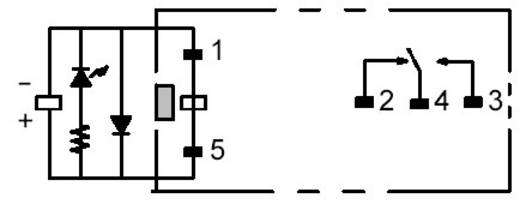 PCB ERŐSÁRAMÚ RELÉ G2R-1-SNDI 12 VDC