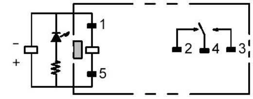 PCB erősáramú relé, G2R-1-SNI 230 VAC