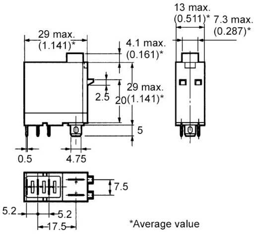 PCB erősáramú relé, G2R-1-SNI 24 VDC